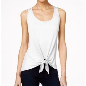 Olive Front Tie Tank by Rebellious One
